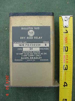 Vintage Allen-Bradley Dry Reed Relay Series B 24V DC Coil Industrial Automation