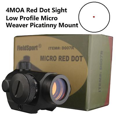 NEW!US Seller! 4MOA Red Dot Reflex Sight Low Profile Micro 20MM MOUNT