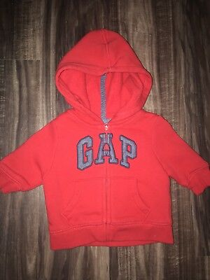 BabyGAP Red Zip Up Hoodie - Size 0-3 Months - Worn One Time