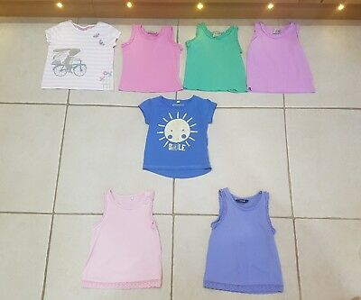 Baby Girls Next Bluezoo and George Vest Tops bundle X7 12-18 Months
