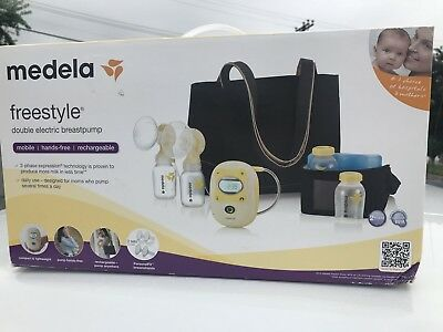 MEDELA Freestyle Double Electric Breastpump Rechargeable DELUXE SET