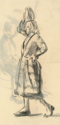 Jean Dryden Alexander (1911-1994) -  Charcoal Drawing, Study of a Woman
