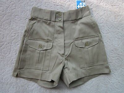 """Woolrich Woman Womens Vintage Khaki Shorts New With Tags Has Stretch Waist 23"""""""