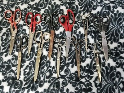Vintage Scissors LOT OF 11: Griffon Sears Carl Monkhouse Wiss Hair Utility