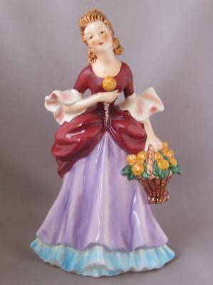 Vintage Goebel Porcelain Art Deco Fashion Lady with Flower Basket Germany