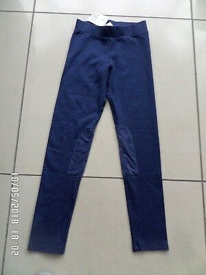 New With Tags H&m Girls Blue  Jersey Leggings Treggings 9 - 10 Years
