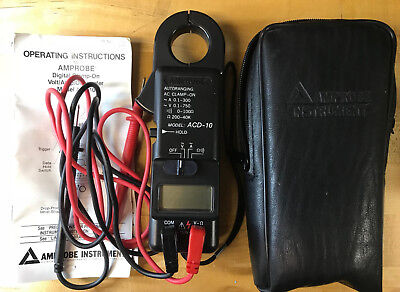 Amprobe Model ACD-10 Clamp Voltmeter w/ Case and Manuals