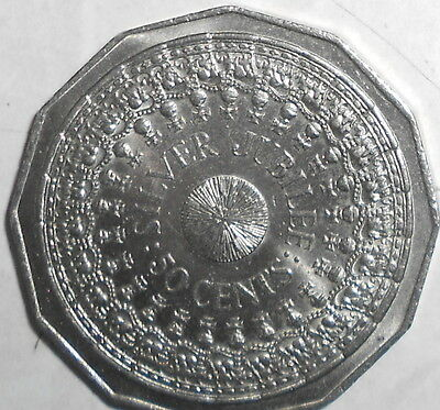 1977 Silver Jubilee  50c COIN Fifty Cent ( Issued by the Royal Australian mint )