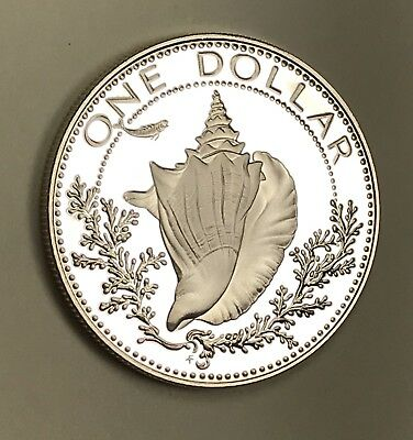 1978 Bahamas Silver One Dollar Proof.collector Coin For Your Set Or Collection.2