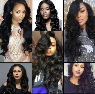 Peruvian Loose Wave 2 Bundles with Lace Closure 4x4 Free Part 8A Virgin Hair MJH