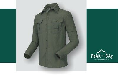 Tactical Long Sleeve Shirt Quick Dry Breathable Water Resistant