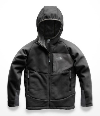 The North Face Boys -Youth Chimborazo Hoodie Fleece Jacket- A7As- Black Small