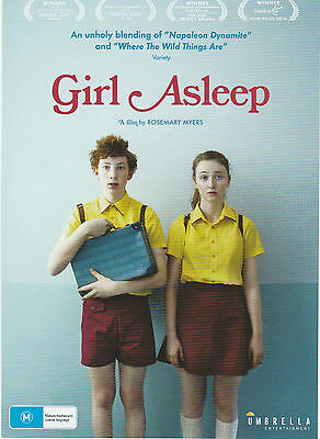 Promotional Movie Flyer - GIRL ASLEEP (2016) (Bethany Whitmore, Rosemary Myers)