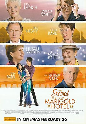 Promotional Movie Flyer - SECOND BEST EXOTIC MARIGOLD HOTEL (2015) *Judi Dench*