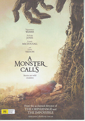 Promotional Movie Flyer - A MONSTER CALLS (2017) **Liam Neeson, Felicity Jones**