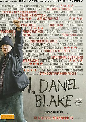 Promotional Movie Flyer - I, DANIEL BLAKE (2016) ***Ken Loach, Paul Laverty***