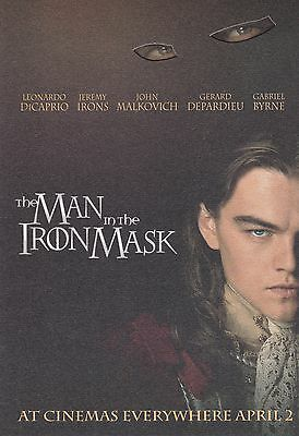 Promotional Movie Flyer - THE MAN IN THE IRON MASK (1998) - (Leonardo DiCaprio)