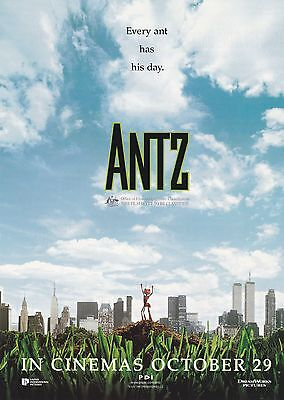 Promotional Movie Sheet - ANTZ (1998) (Woody Allen, Sharon Stone)
