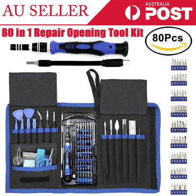 AU 80 in 1 Repair Opening Tool Kit Screwdriver Set Kit Repair For Phone Laptop
