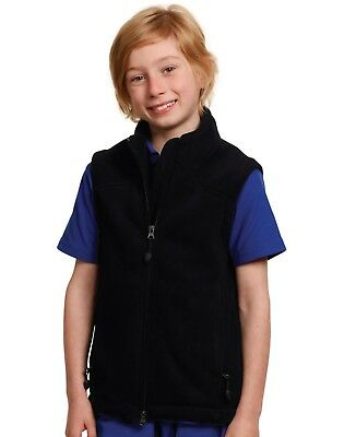 Winning Spirit Kids' Easy Fit Anti-Pill Bonded Polar Fleece Vest W/ Deep Pockets