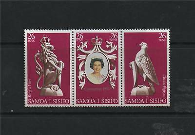 Samoa 1978 Anniv of Coronation SG 508/10 MNH