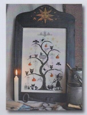 O Halloween Tree - fun cross stitch chart - Barbara Ana Designs