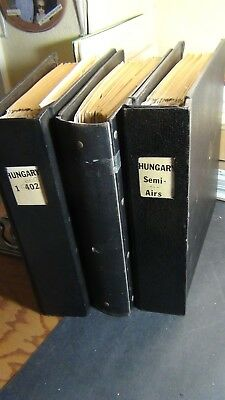 Hungary stamp collection in 3 volumes of Heavy binders w/ stock ~ Loaded
