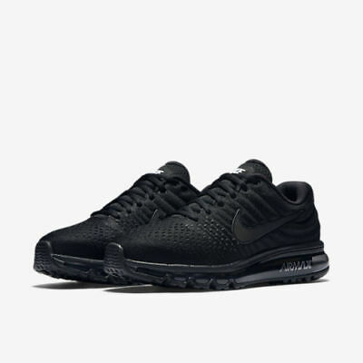 Nike Air Max 2017 Size 7.5-13 Men s Running Shoes Triple Black 849559-004 176c444e9094