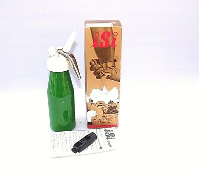 Cream whipper syphon Vintage Austria Green Boxed Instructions Chantilly Cream 50