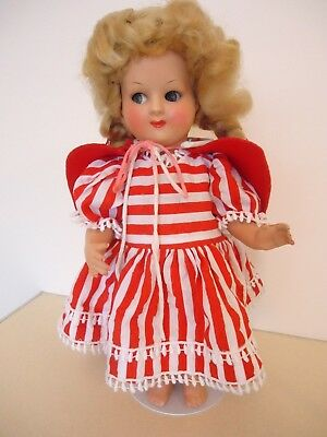 Vintage Sweet Little Red Riding Hood Doll - Unmarked Original 1940s
