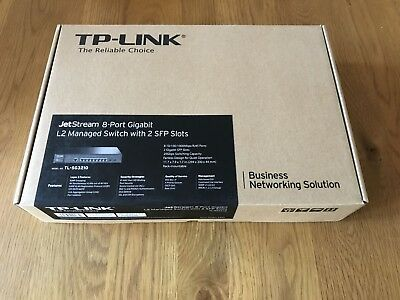 TP-Link TL-SG3210 JetStream 8 Port (10/100/1000 RJ45) + 2x SFP Managed-Switch