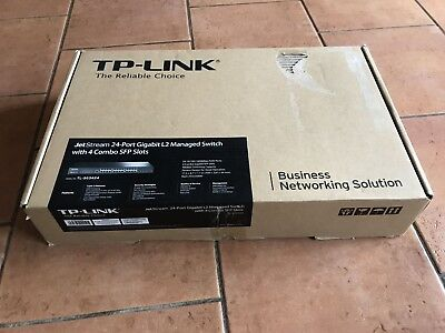 TP-Link TL-SG3424 JetStream 24 Port (10/100/1000 RJ45) + 4x SFP Managed-Switch