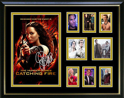 The Hunger Games Catching Fire Signed Framed Memorabilia New Design
