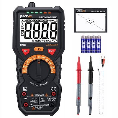 Digital Multimeter, Tacklife DM07 Digital Multimeter mit Auto Range, 6000 Counts