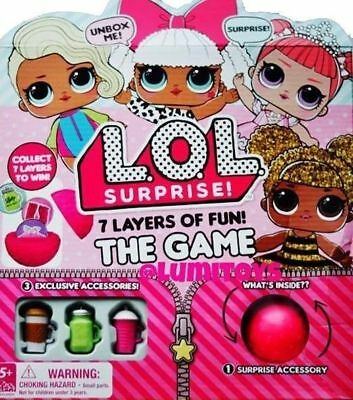 NEW LOL Surprise Lil Sisters 7 Layers of Fun The Game Action Board FAST SHIPPING