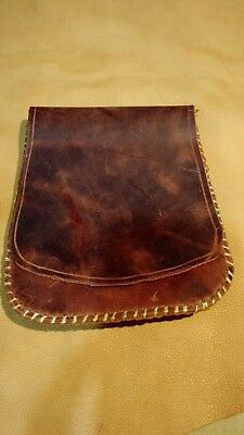 Mountain Man Belt Bag Leather Hand Stitched