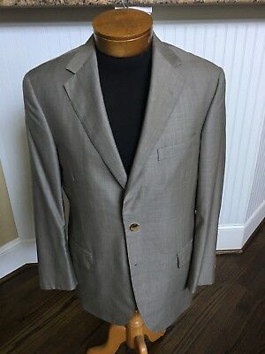 Oxxford Clothes tan summer suit with working surgeon cuffs 40R