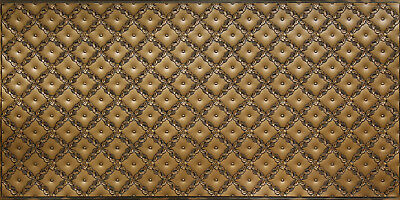 Faux Tin PVC Decorative Backsplash Roll WC90 - Antique Brass - Back Splash Roll