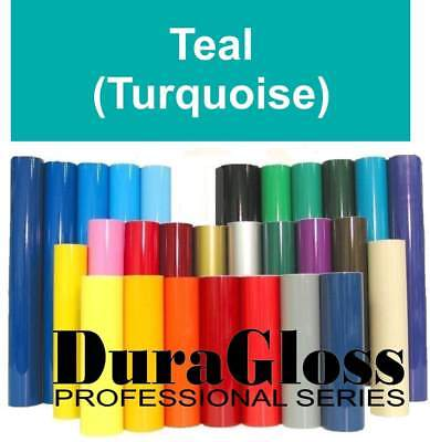 """12"""" x 10 ft - Outdoor Sign Vinyl - DuraGloss Pro 651 - 5+ yr - Turquoise Teal"""