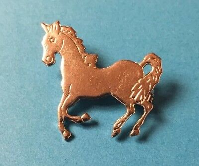 Sweet & Simple Silver Horse Pin Brooch • Galloping • Vintage?