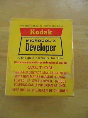Kodak Microdol-X Developer Lot of 3 Packages
