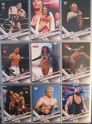 WWE WWF 2017 Topps Then now forever Trading Card Set