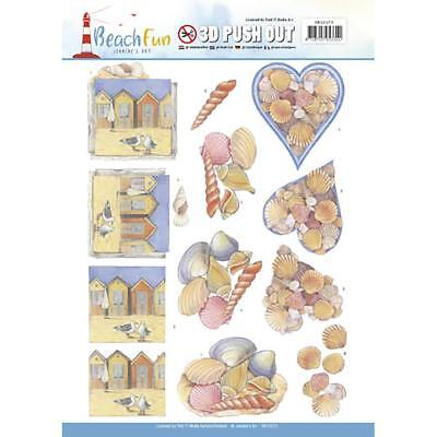 Scrapbooking Crafts Stickers Jeanine's Art 3D Push Out Beach Sea Shells Houses