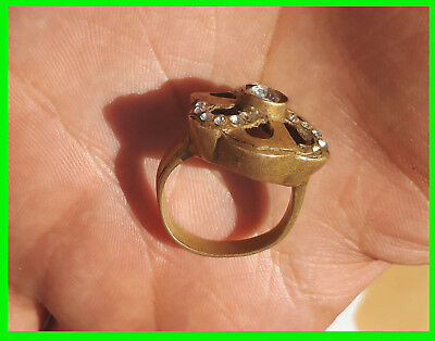 Ancient Roman antique solid legionary ring bronze roman artifact -rare type