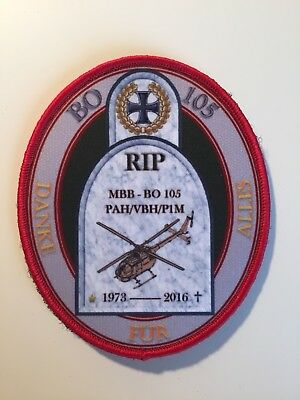 """Bo 105 Fly Out Patch """"RIP Bo 105"""""""