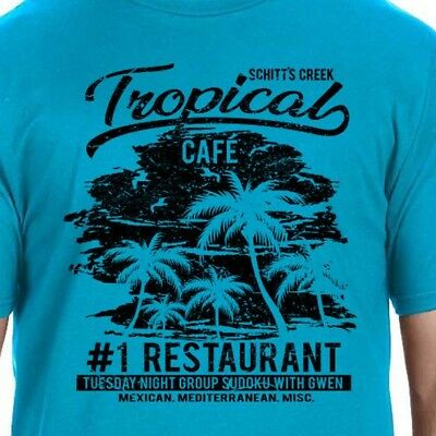 Cafe Tropical T-Shirt Schitt's Creek Netflix TV Show Rose Apothecary Funny Gift