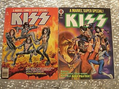 KISS MARVEL SUPER SPECIAL MAGAZINES VOL #1   Issues #1 & #5  1977  EX condition