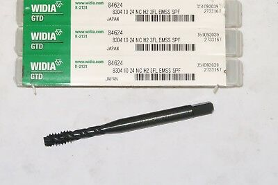 new WIDIA #10-24 GH2 3FL HSS-E Modified Bottoming Spiral Flute Tap, Steam Oxide