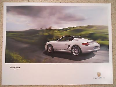 2009 Porsche Boxster Spyder Showroom Advertising Sales Poster RARE! Awesome L@@K