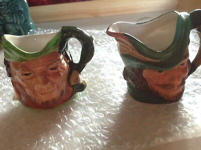 Cooper Clayton Toby Jugs 7cms - Robin Hood and Will Scarlett
